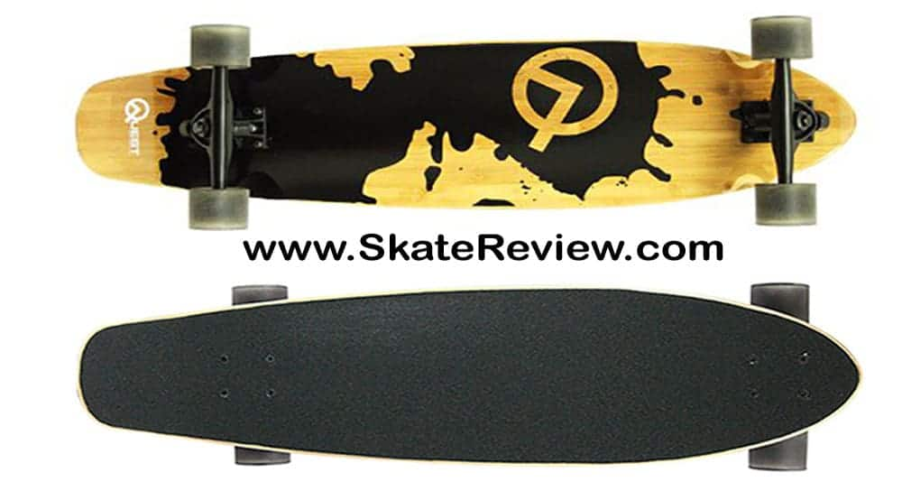 quest rorshack bamboo cruiser skateboard, cruiser long deck, cruiser long skateboard