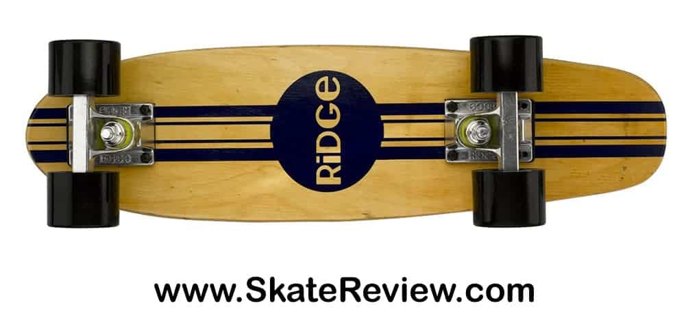 ridge maple retro style cruiser mini skateboard