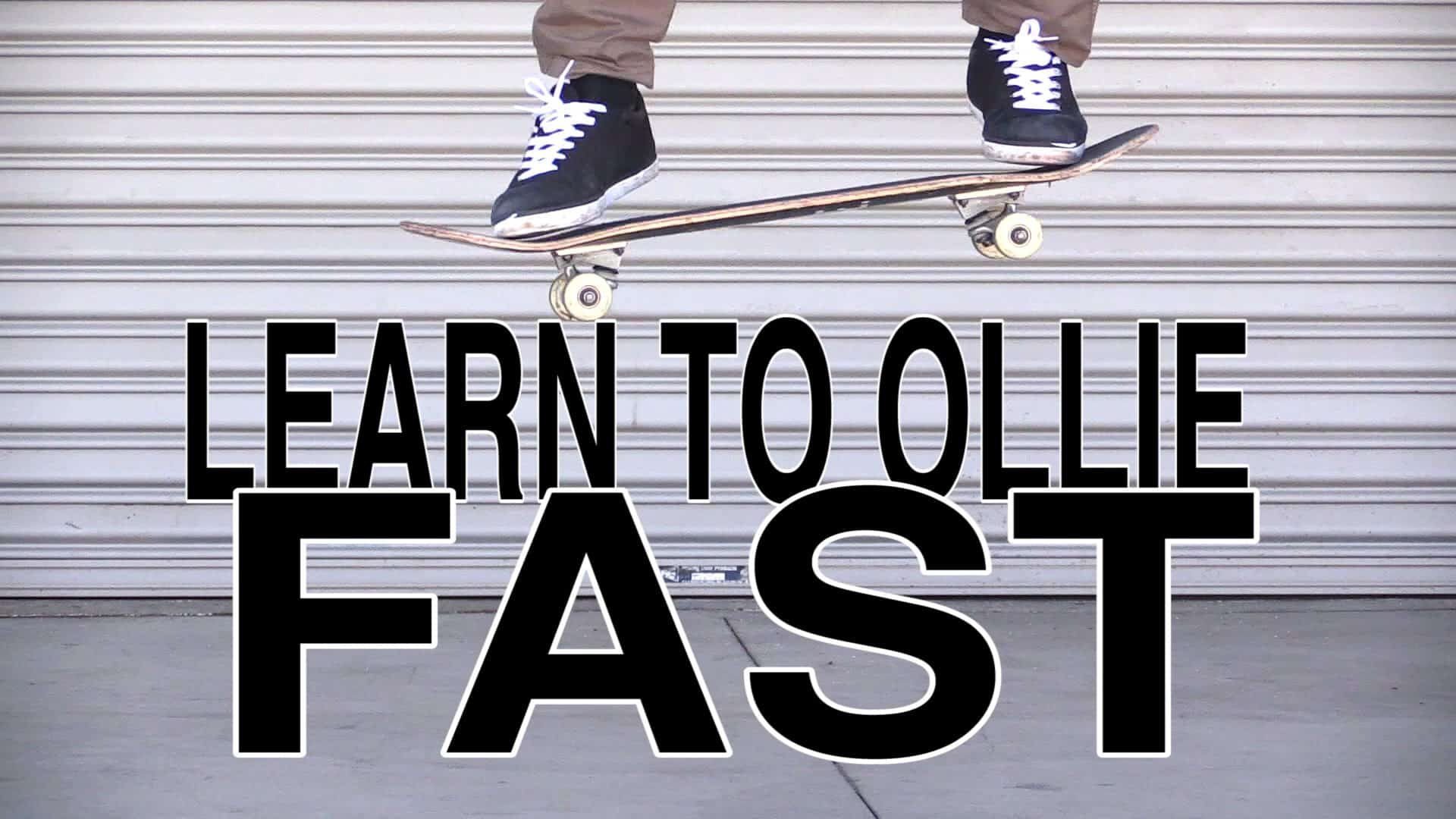 How To Ollie Tutorials For Skateboard Beginners