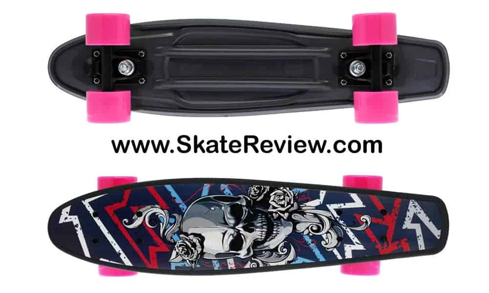 merkapa skateboard, skull designed skateboards, skull skateboard for Girls