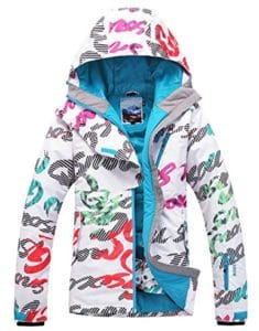 APTRO Women's High Windproof Technology Colorfull Printed Ski Jacket
