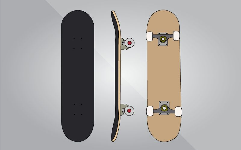 different types of skateboards-Double-kick popsicle